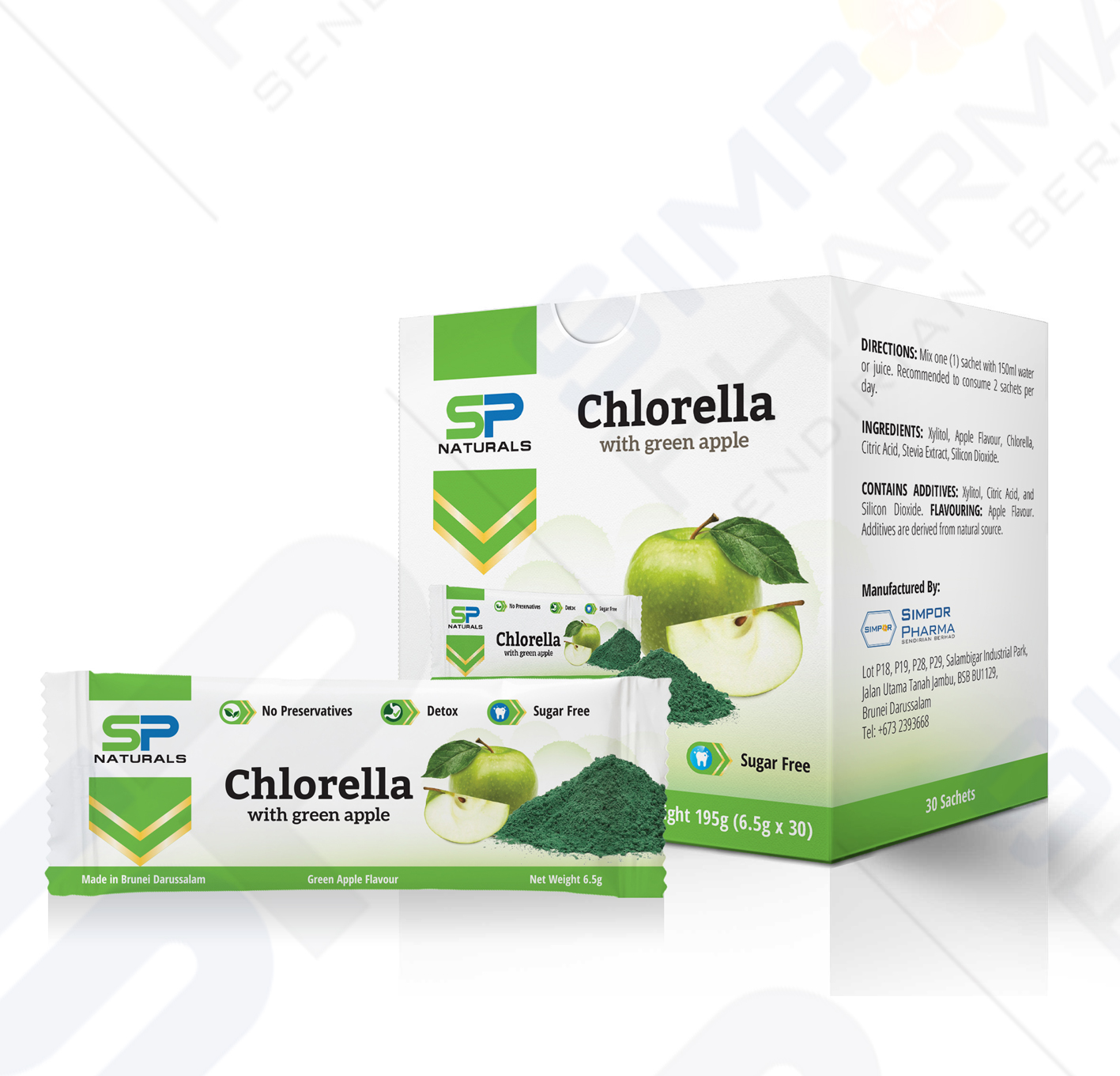 SP Naturals Chlorella with Green Apple