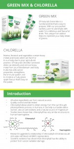 SP Naturals Green Mix - Chlorella Pamplet 2